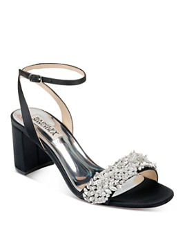 Badgley Mischka - Women's Clara Embellished Block Heel Sandals