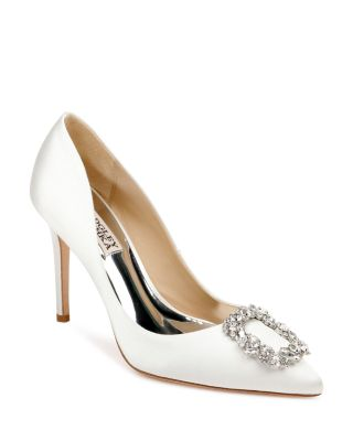 Cher Crystal Buckle Pumps