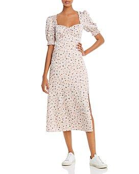 WAYF - Beatrix Puff-Sleeve Midi Dress