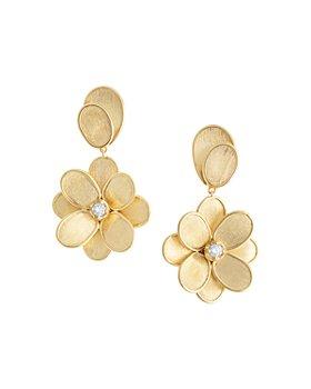 Marco Bicego - 18K Yellow Gold Diamond Petal Drop Earrings