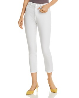 7 For All Mankind - Cropped Skinny Jeans in White