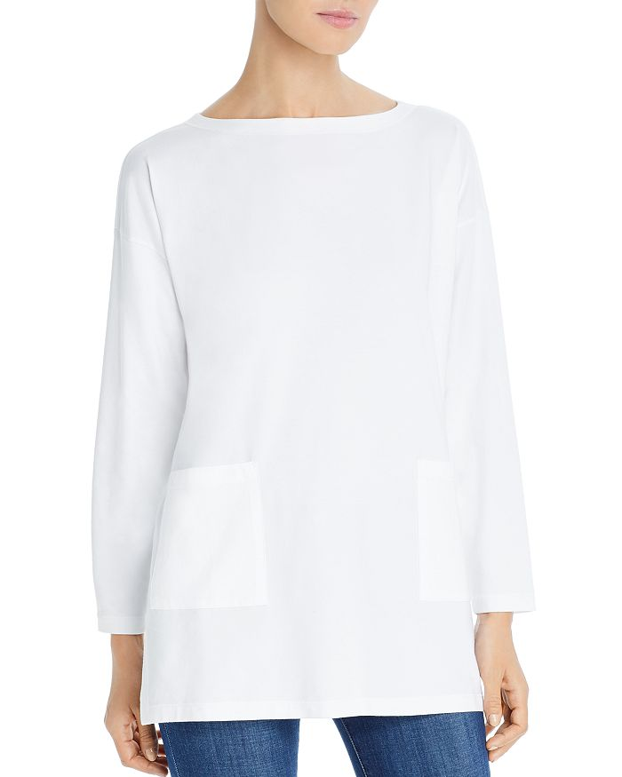 Eileen Fisher Petites - Pocket Tunic Top