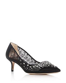 Badgley Mischka - Women's Onyx Embellished Pointed-Toe Pumps