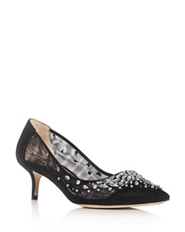 Badgley Mischka - Women's Onyx Embellished Pointed-Toe Pumps