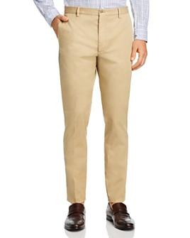Zanella - Noah Garment-Dyed-Cotton & Linen-Stretch Slim-Fit Pants