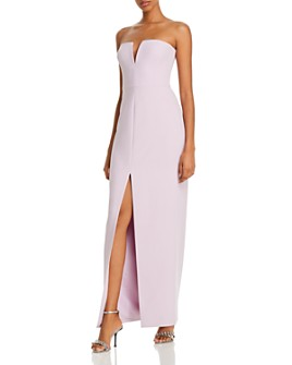 BCBGMAXAZRIA - Strapless Crepe Gown - 100% Exclusive