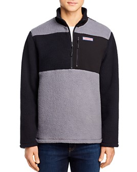 Vineyard Vines - Sherpa Color-Block Half-Zip Fleece