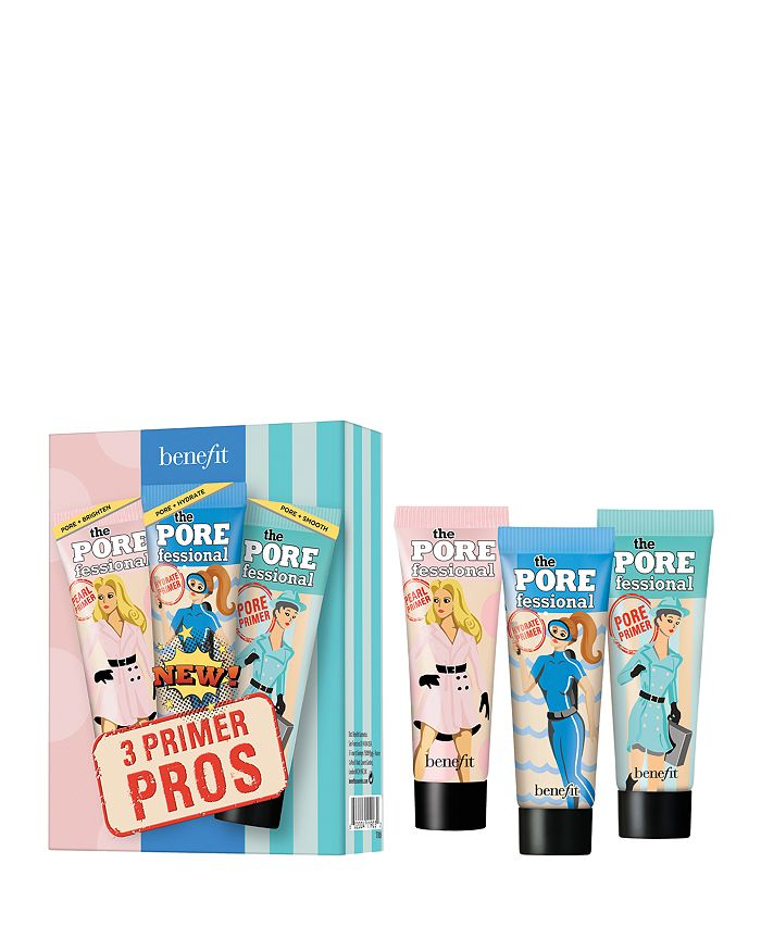 Benefit Cosmetics - 3 Primer Pros Face Primer Mini Set ($39 value)