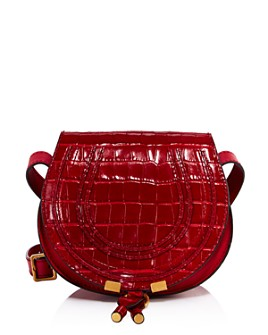Chloé - Marcie Small Croc-Embossed Round Crossbody