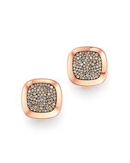 Roberto Coin - 18K Rose Gold Carnaby Street Cognac Diamond Stud Earrings