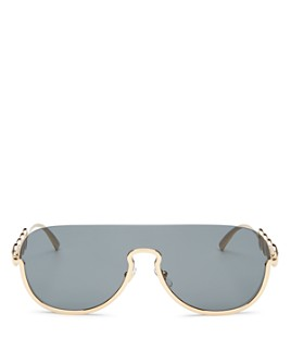 Versace - Unisex Rimless Shield Sunglasses, 140mm