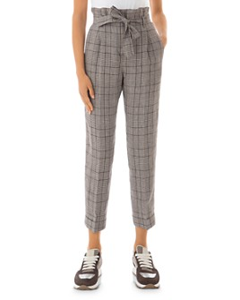 Peserico - Cropped Check-Print Linen Pants