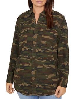 Sanctuary Curve - Conroy Camo Print Button-Down Shirt