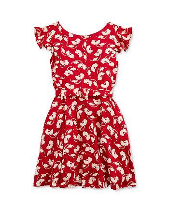 Ralph Lauren - Girls' Floral Print Belted Dress - Little Kid
