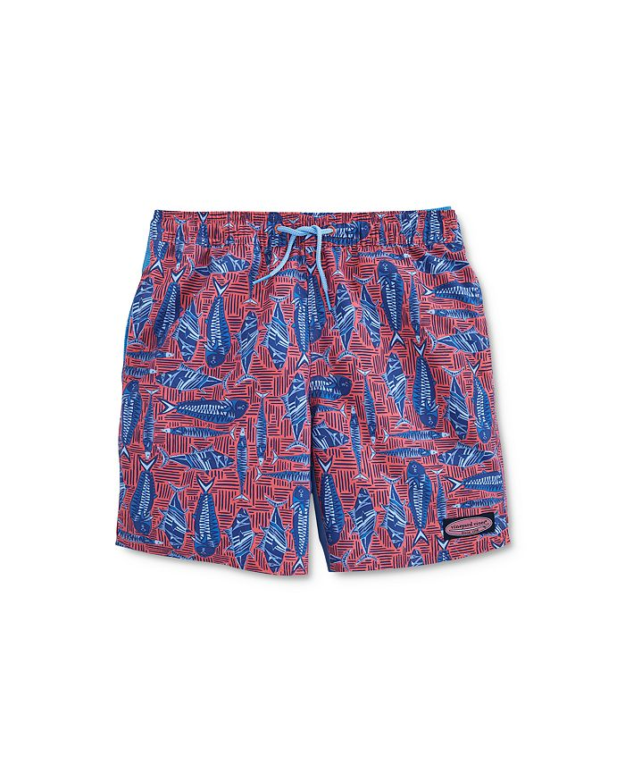 Vineyard Vines - Boys' Fish Print Chappy Swim Trunks - Little Kid, Big Kid