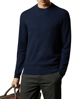 Ted Baker - Seer Waffle-Stitch Crewneck Sweater