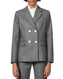 Sandro - Tanya Striped Wool-Blend Blazer