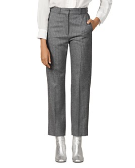 Sandro - Jena Striped Wool-Blend Pants