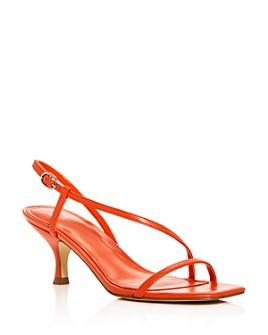 Marc Fisher LTD. - Women's Gove Strappy Snake-Embossed Kitten-Heel Sandals