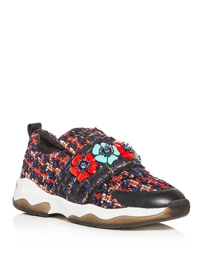 KURT GEIGER LONDON - Women's Lara Embellished Slip-On Sneakers