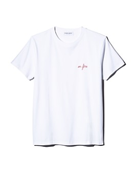 Maison Labiche - Fire Heavy Embroidered Tee - 100% Exclusive