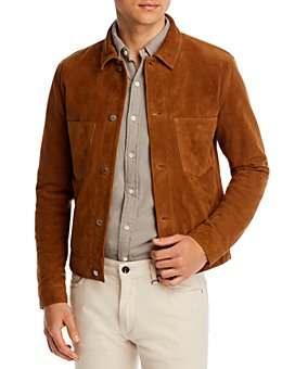 PS Paul Smith - Suede Regular Fit Rider Jacket