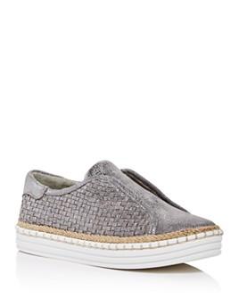 J/Slides - Women's Kayla Woven Slip-On Platform Sneakers