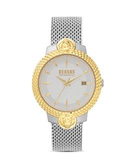 Versus Versace - Versus Mouffetard Two-Tone Mesh Bracelet Watch, 38mm