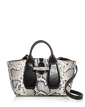 Longchamp - Roseau Extra Small Python-Print Leather Crossbody