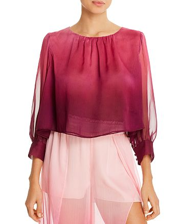 Jonathan Simkhai - Midnight Ombré Cropped Top Swim Cover-Up
