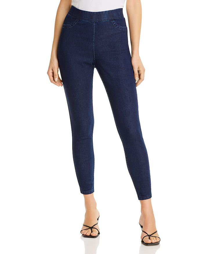 HUE - Reversible High-Waisted Denim Leggings