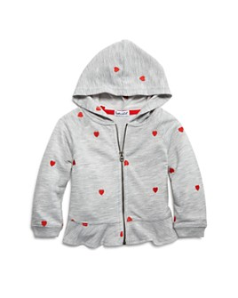 Splendid - Girls' Embroidered Heart Peplum Hoodie - Baby