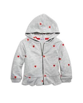 Splendid - Girls' Embroidered Heart Peplum Hoodie - Baby