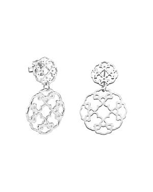 Tous Sterling Silver Mosaic Drop Earrings