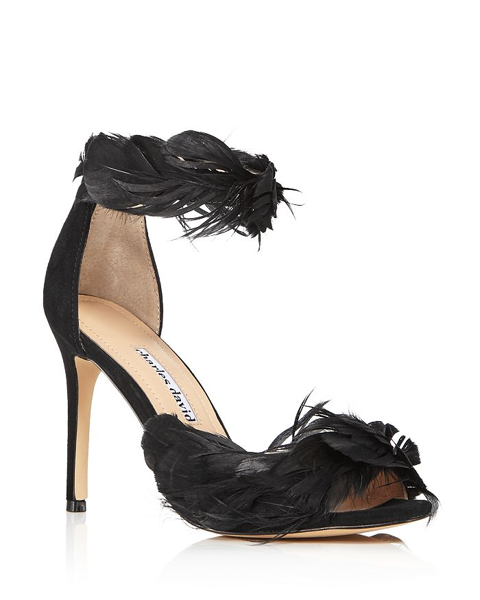 Charles David WOMEN'S COLLECTOR FEATHER-EMBELLISHED HIGH-HEEL SANDALS