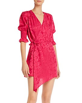 Art Dealer - Tyra Floral Asymmetric Wrap Dress