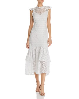 Saylor - Lilyrose Lace Midi Dress