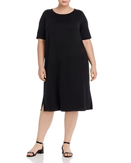 Eileen Fisher Plus - Side-Slit Dress