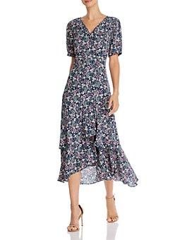 nanette Nanette Lepore - Floral Midi Wrap Dress