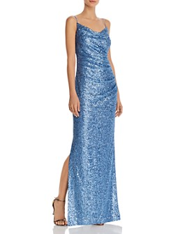 Laundry by Shelli Segal - Sequin Cowl Neck Gown