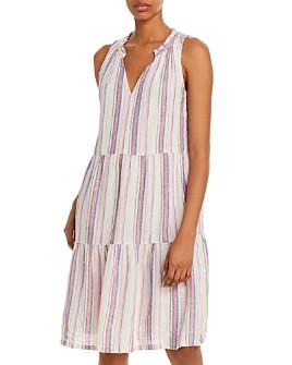 Tommy Bahama - Sleeveless Striped Tiered Shift Dress