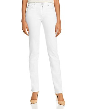 7 For All Mankind - Kimmie Straight-Leg Jeans in Slim Illusion Luxe White