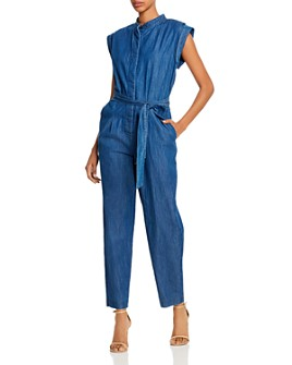 7 For All Mankind - Cotton Tie-Waist Jumpsuit