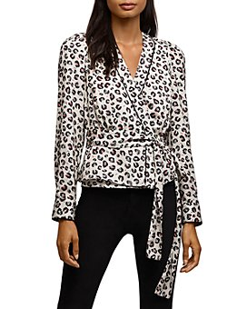 Bailey 44 - Marguerite Leopard Print Wrap Top