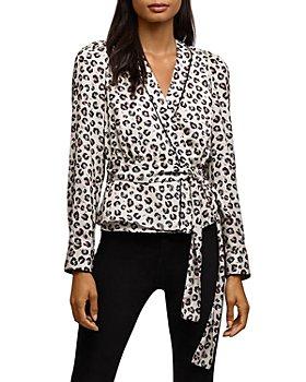Bailey 44 - Marguerite Leopard Print Wrap Top