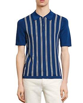 Sandro - Simon Striped-Front Polo Sweater