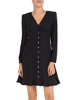 The Kooples - Simply Snap-Front Crepe Dress