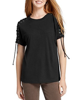 NIC and ZOE - Lace-Up Tee