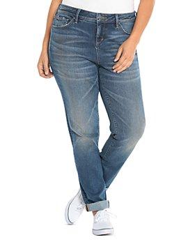 SLINK Jeans Plus - High-Rise Boyfriend Jeans in Olivia