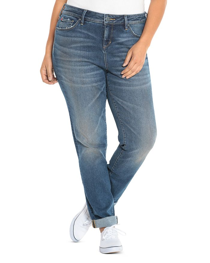 SLINK Jeans Plus - High-Rise Boyfriend Jeans in Olivia
